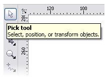 Cách sử dụng công cụ Pick Tool trong Corel nhanh, hiệu quả