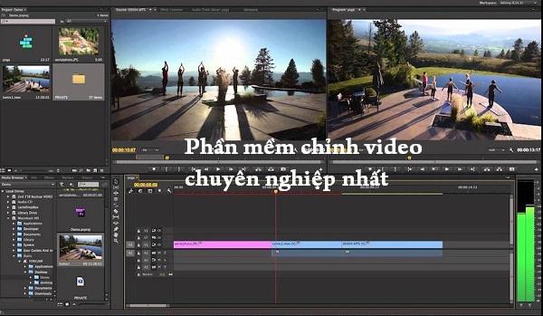 Tổng hợp 3 phần mềm chỉnh sửa video chuyên nghiệp nhất hiện nay