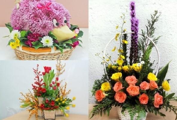 Mách bạn 3 cách cắm hoa bằng lẵng đẹp trong ngày trọng đại