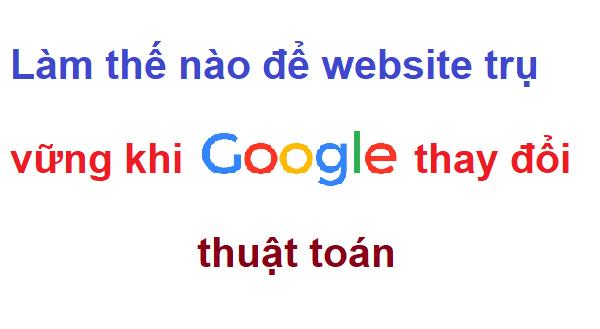 Làm thế nào để website trụ vững khi google thay đổi thuật toán