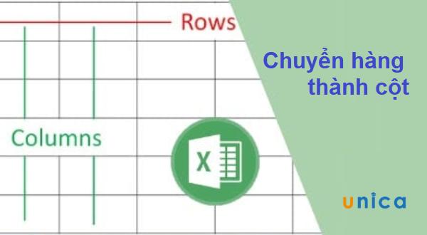 Cách chuyển hàng thành cột trong Excel