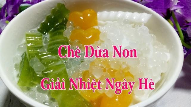 Hướng dẫn cách làm chè dừa non rau câu lá dứa ngọt mát giải nhiệt ngày hè