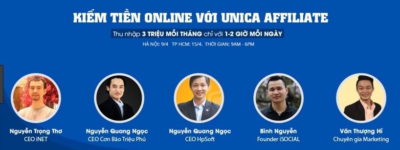 Hướng dẫn cách làm Affiliate trên Unica
