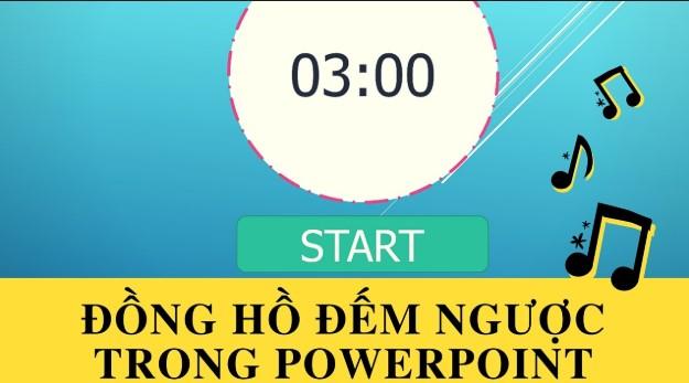 Cách tạo slide đồng hồ đếm ngược trong powerpoint