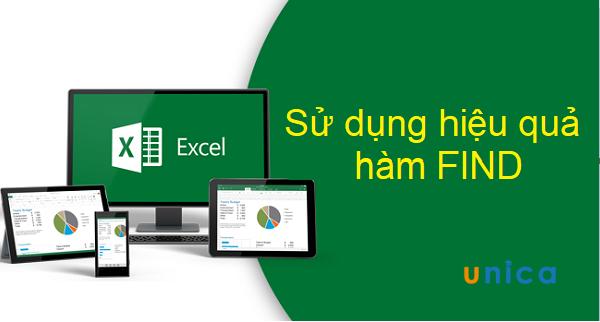 Hàm Find và cách dùng hàm Find hiệu quả trong Excel