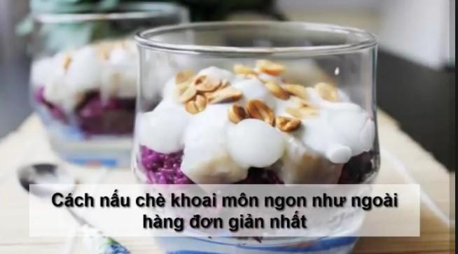 Bí quyết nấu chè khoai môn trân châu cốt dừa cực hấp dẫn