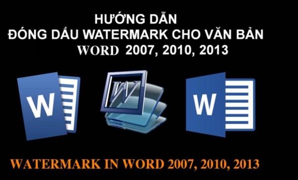 Cách đóng dấu bản quyền trong word bằng Watermark