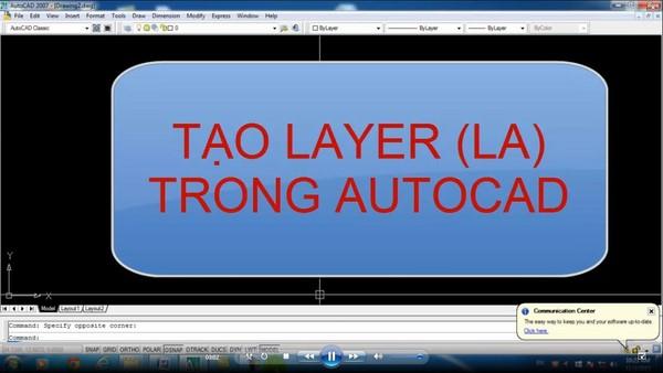 Hướng dẫn cách tạo layer mới và quản lý layer trong Autocad