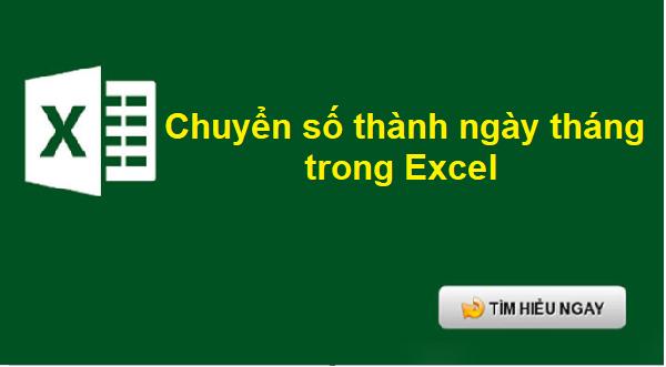 Thay đổi định dạng ngày tháng trong Excel