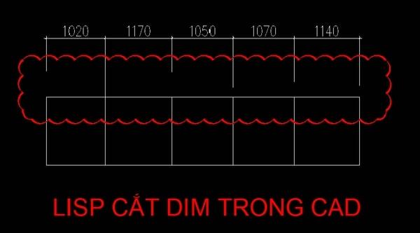 Hướng dẫn chi tiết cách sử dụng lệnh cắt Dim trong Autocad