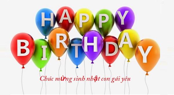 Những lời chúc mừng sinh nhật con gái yêu hay và ý nghĩa