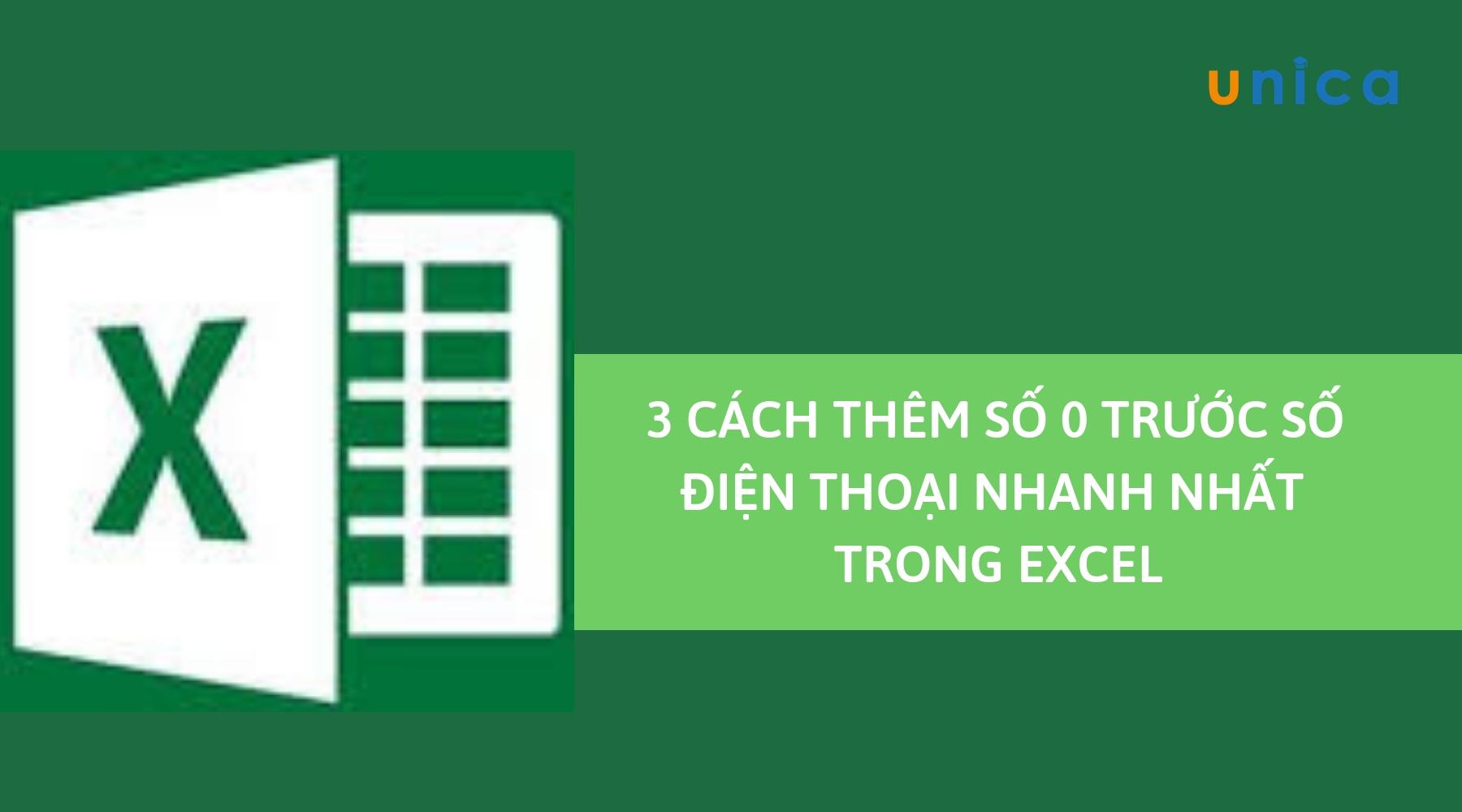 3 cách thêm số điện thoại nhanh nhất trong Excel mà bạn cần biết