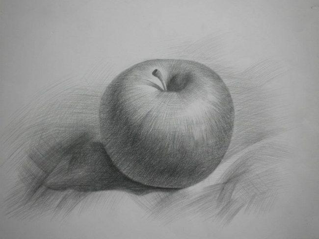 Gợi ý cách đánh bóng khối khi vẽ tranh bằng bút chì