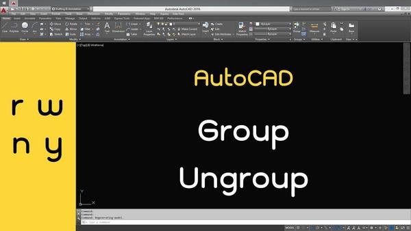 Cách dùng lệnh Group trong Cad để nhóm các đối tượng