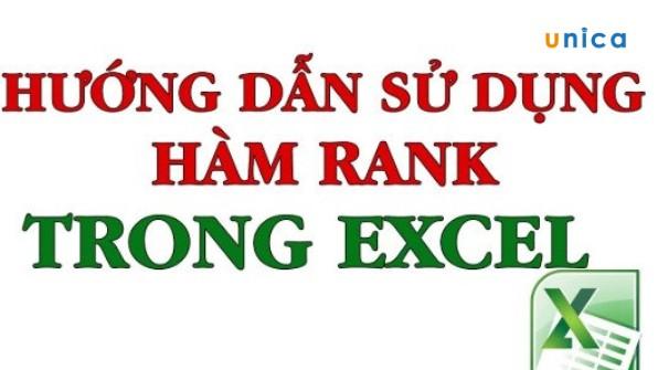Hướng dẫn cách dùng hàm RANK để xếp hạng trong Excel