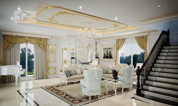 Các đặc trưng cơ bản của kiến trúc nội thất tân cổ điển