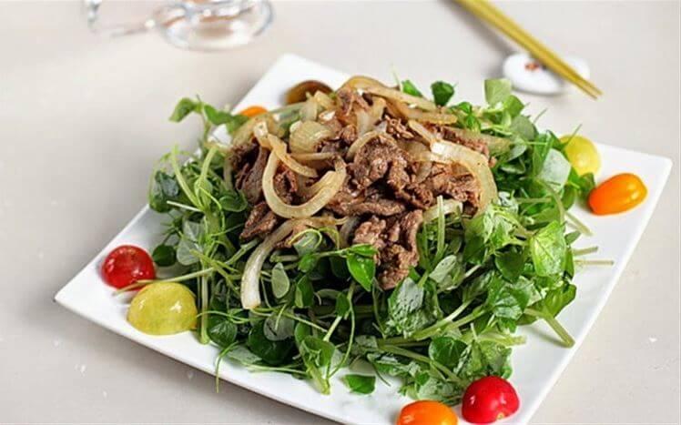 """Cách chế biến rau càng cua trộn thịt bò """"chuẩn cơm mẹ nấu"""""""