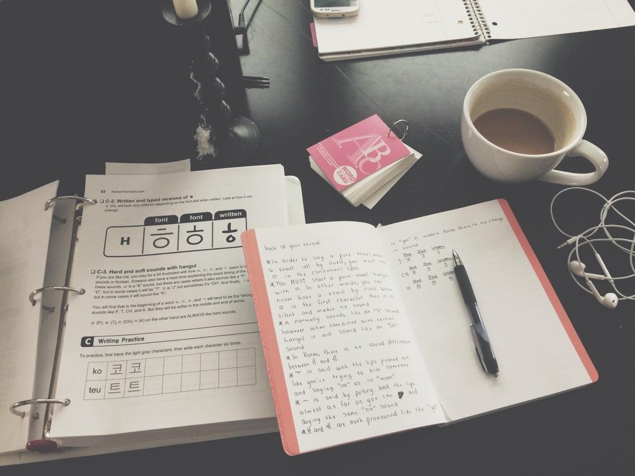 Mình đã tự học tiếng Hàn tại nhà như thế nào?