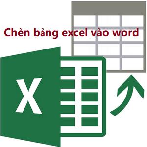 Cách sao chép và chèn bảng excel vào word