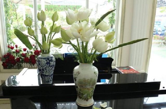 Bí quyết cắm hoa sen đẹp vạn người mê của ông bố trẻ
