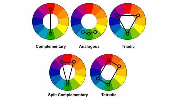 Phối màu chuẩn đẹp trong thiết kế theo bảng màu tương phản