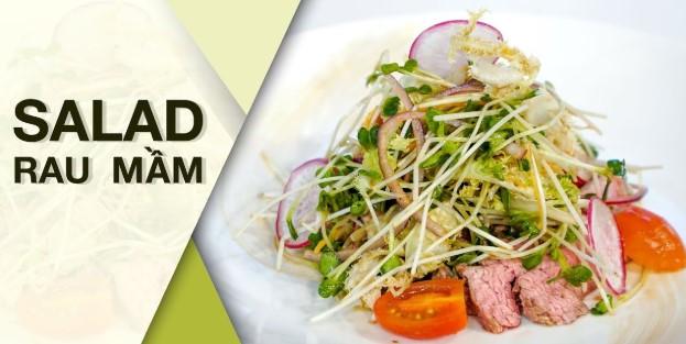 3 món salad rau mầm ngon không cưỡng nổi