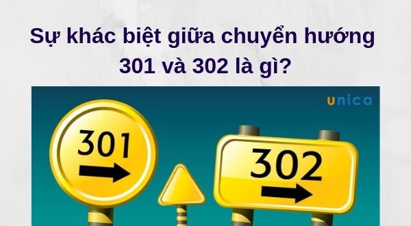 Sự khác biệt giữa chuyển hướng 301 và 302 là gì?