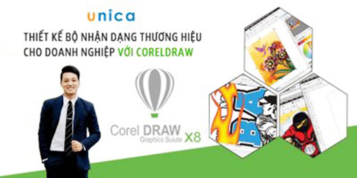 Học Corel online với khoá học cực chất lượng trên UNICA