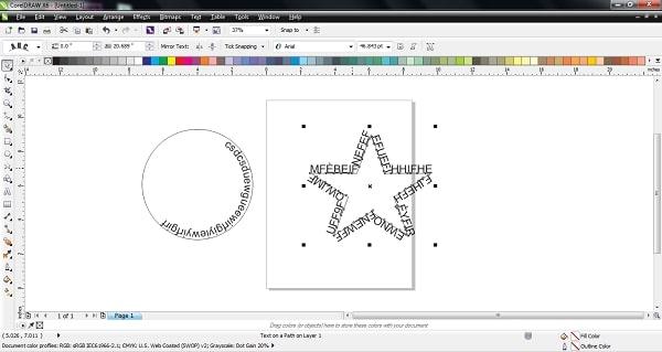Cách làm chữ cong trong Corel nhanh chóng chỉ với vài bước đơn giản